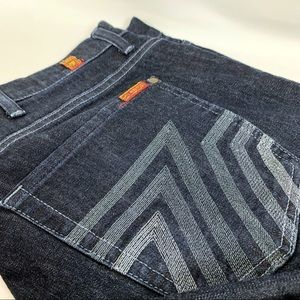 7 for All Mankind Bootcut Dark Washed